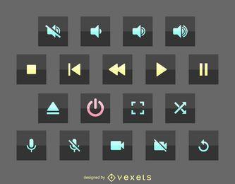 Multimedia-Benutzeroberflächen-Symbol