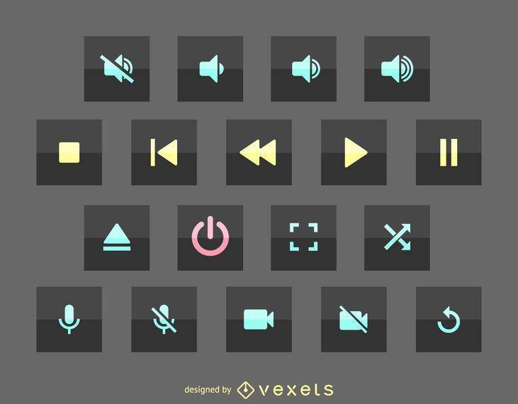 Ícono de interfaz de usuario multimedia
