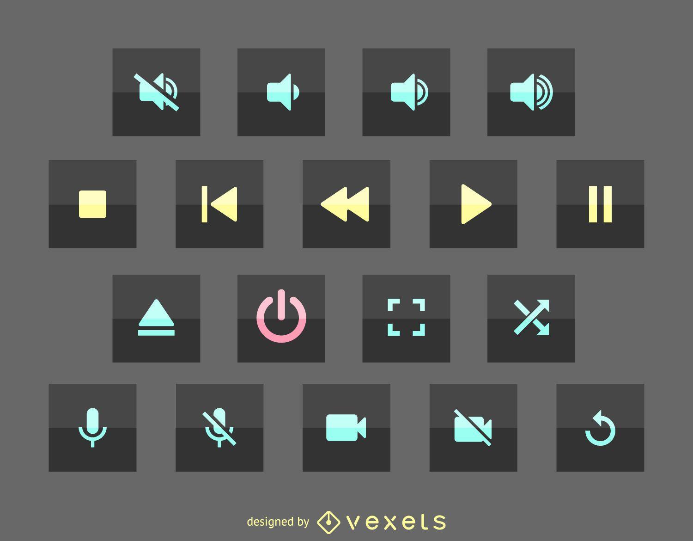 Multimedia user interface icon