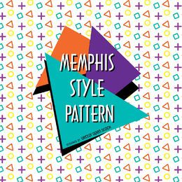 Patrón de diseño geométrico de memphis
