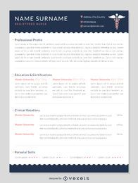 Nurse CV resume mockup template