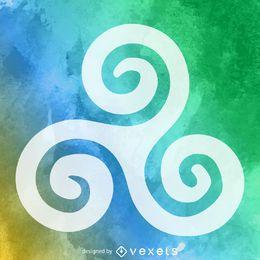 Budismo símbolo de espiral tripla