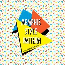 Arrows memphis pattern