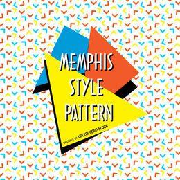 Memphis-Muster mit Pfeilen