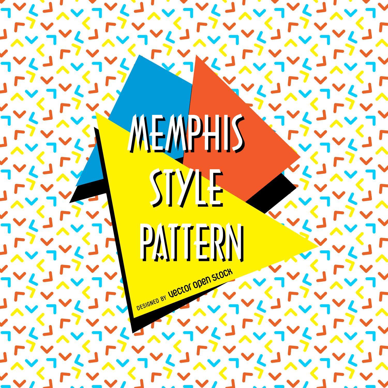 Arrows memphis pattern