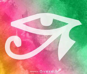 Olho Aquarela de Hórus
