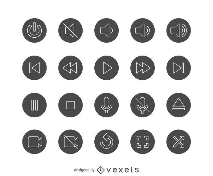 Conjunto de ícones de interface de usuário