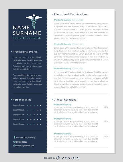 Nurse resume template
