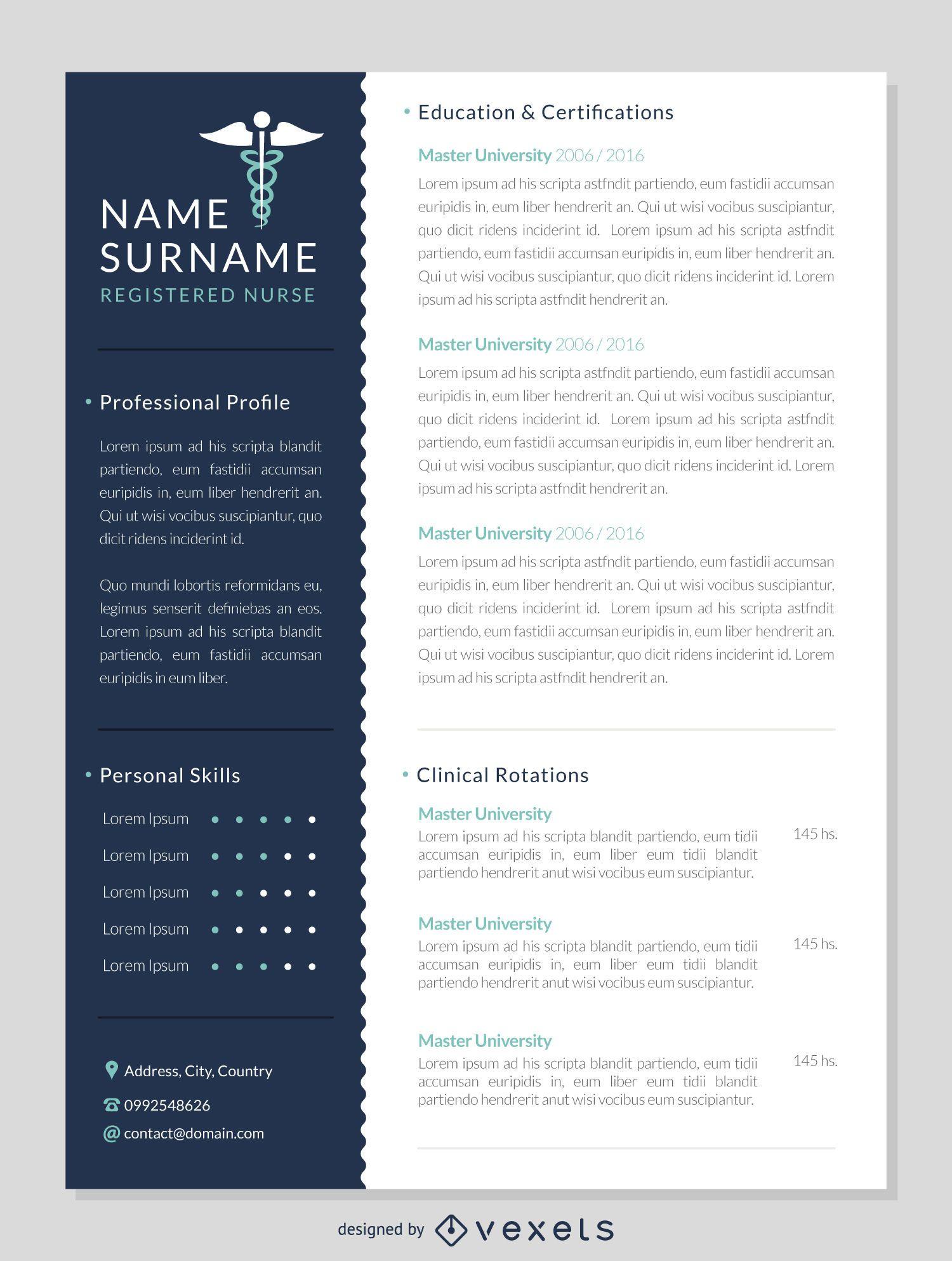 Creador de CV creativo - Diseño editable