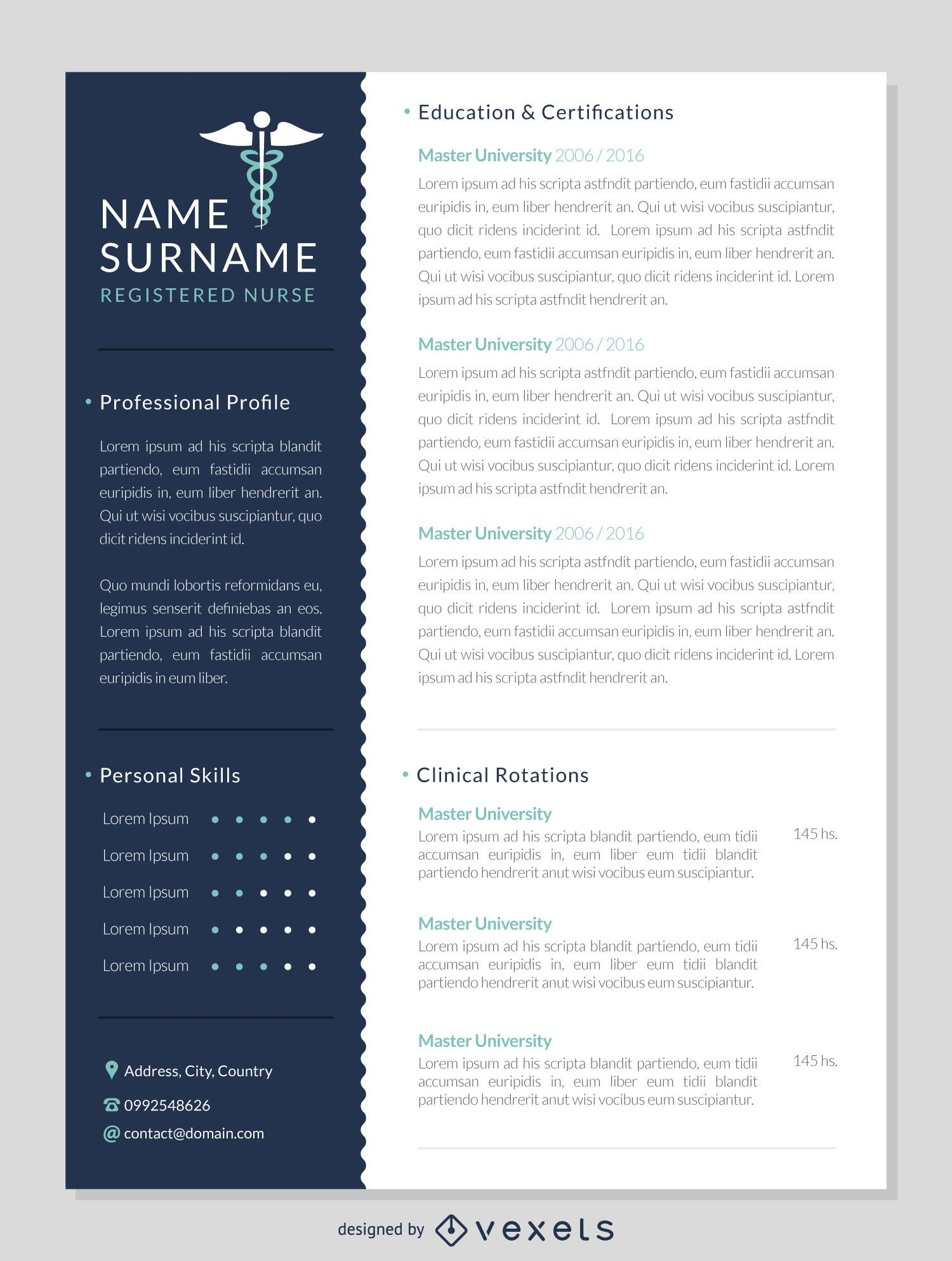 Nurse Resume Mockup Template. Download Large Image 1450x1920px  Psychiatric Nurse Resume