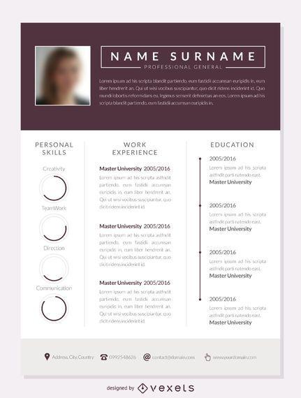 Columns resume template