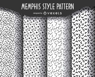 patrón de estilo geométrico Memphis ajustado
