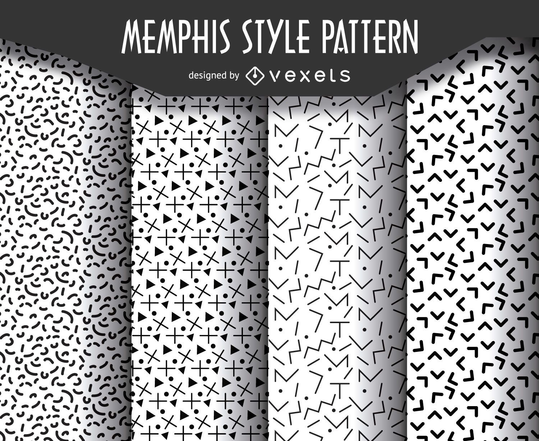Conjunto de patrones de estilo geom?trico de memphis