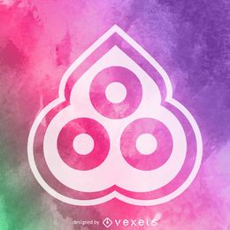 Cartel de símbolo religioso