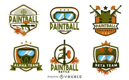Plantilla de logotipo de insignia de paintball