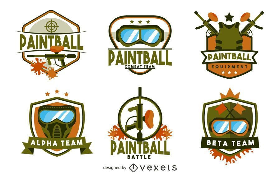 Paintball badge logo template