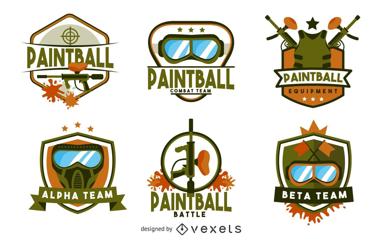 Paintball badge logo template