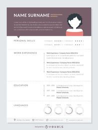 Professional curriculum mockup template