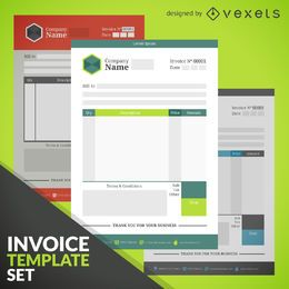 Invoice template set