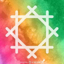 Cartaz de símbolo religioso em aquarela