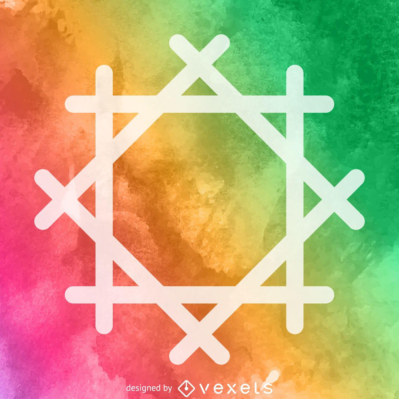 Watercolor religious symbol poster