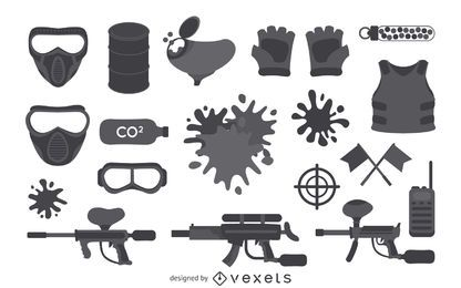 Paintball equipment element collection