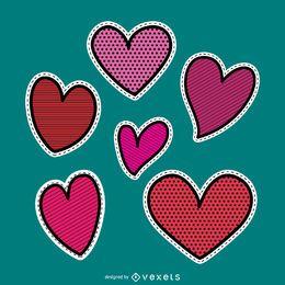 Conjunto de remendo do coração