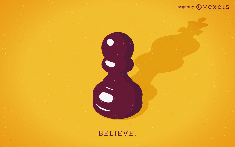 Believe concept illustration