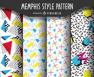 Retro 90s pattern set