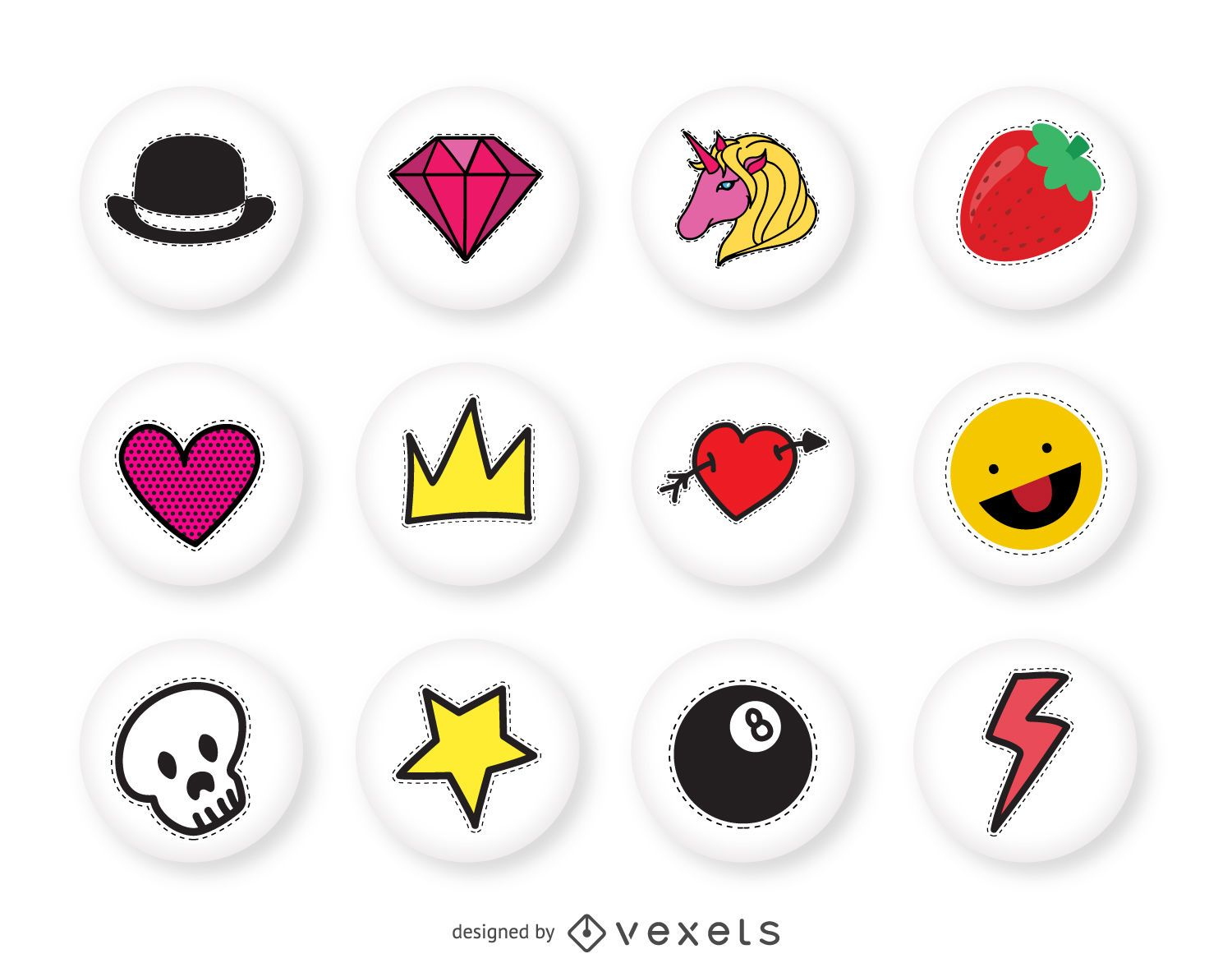 hand drawn pins collection vector download crown vector editing crown vector art