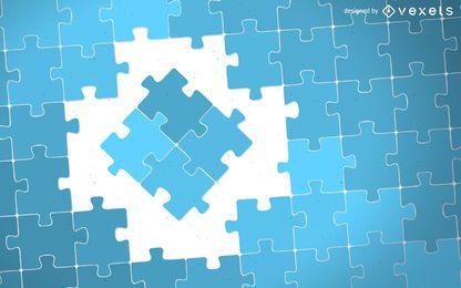 Conceito peças do puzzle ilustração