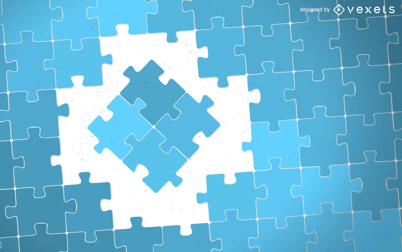 Ilustración de piezas de rompecabezas de concepto
