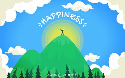 Happiness concept illustration