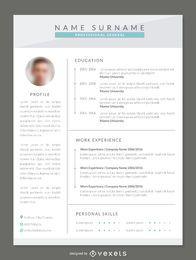 Modern resume mockup template