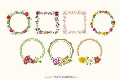 Blumenrahmen-Sammlung