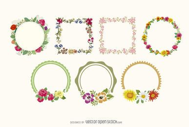 coleção floral frame