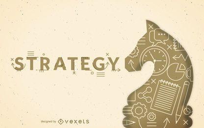 Estrategia de la ilustración del concepto