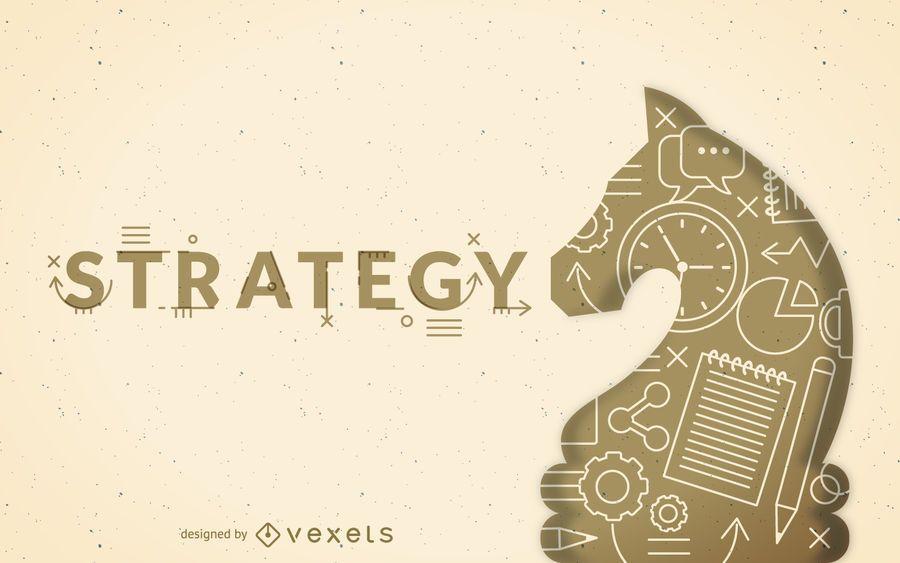 Ilustración del concepto de estrategia