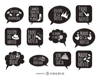 Adereços de frases de casamento em espanhol