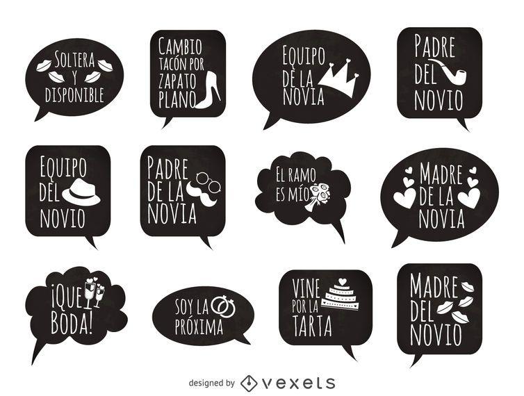 Wedding phrases prop in spanish