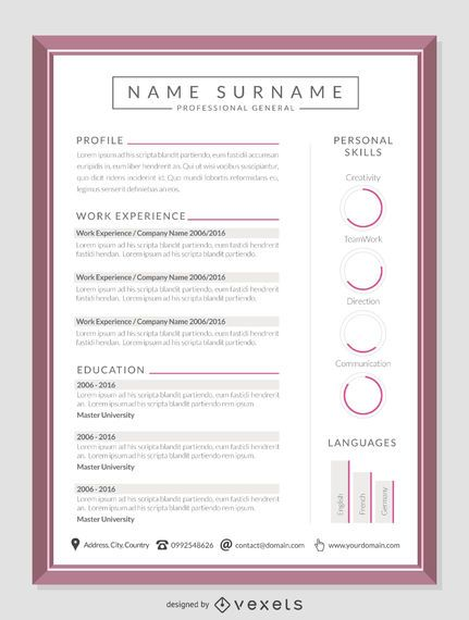 Elegant CV mockup template