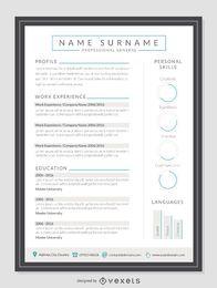Clean resume mockup template