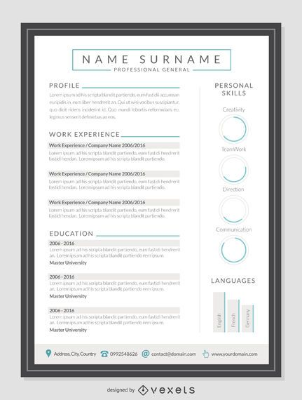 Clean resume mockup template