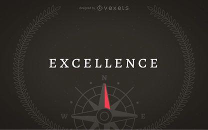 Ilustração do conceito de excelência