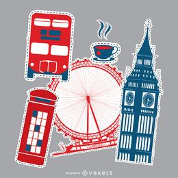 Conjunto de parches de londres