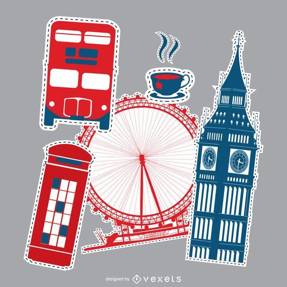 London patches set