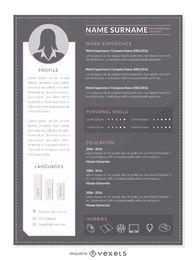 Professional CV mockup template