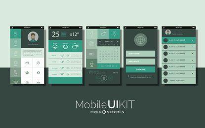 Kit de interface de interface do usuário móvel