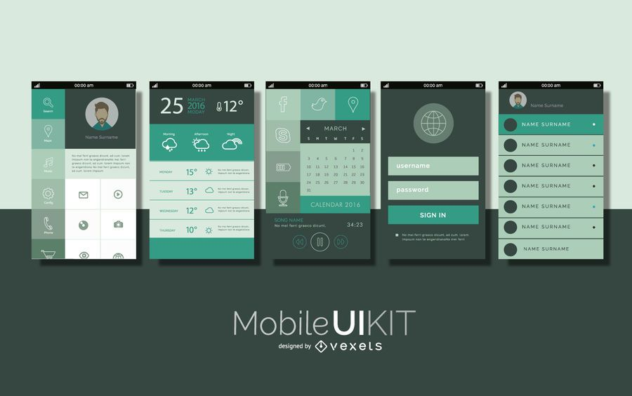 Mobile UI interface kit