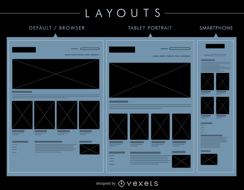 Conjunto de diseños de interfaz de usuario